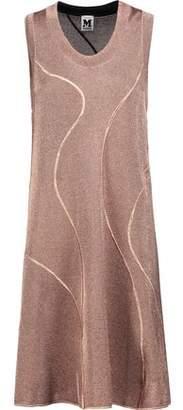 M Missoni Embroidered Metallic Crochet-Knit Mini Dress