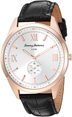 Tommy Bahama Men's Quartz Stainless Steel and Leather Casual Watch