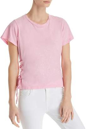 LnA Landis Lace-Up Galaxy Tee