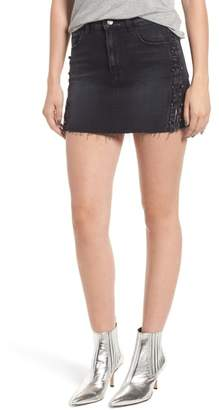 Hudson The Viper Pierced Cutoff Denim Miniskirt
