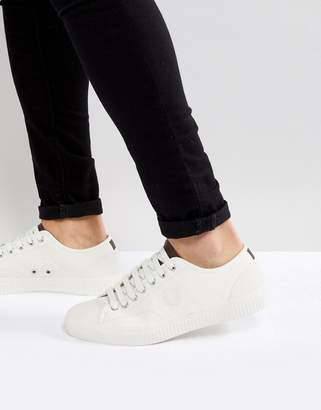 Fred Perry Hughes Leather Sneakers In Off White