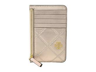 Tory Burch Georgia Metallic Card Case