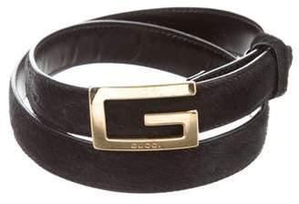 Gucci Ponyhair Waist Belt