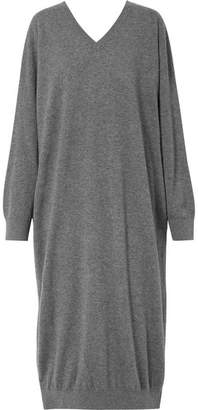 Stella McCartney Oversized Wool And Alpaca-blend Dress - Gray