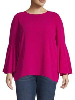 Vince Camuto Plus Bell-Sleeve Blouse