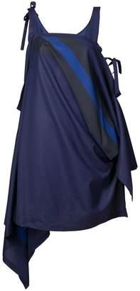 Issey Miyake 132 5. flat stripe strap dress