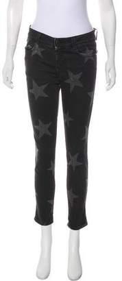 Stella McCartney 2016 Star Print Mid-Rise Skinny Jeans