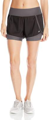 Tapout Women's Warrior Woven Knit Mix Graphic Short