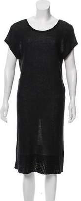 Allude Cashmere-Blend Midi Dress