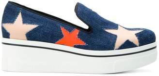 Stella McCartney Star Binx denim loafers