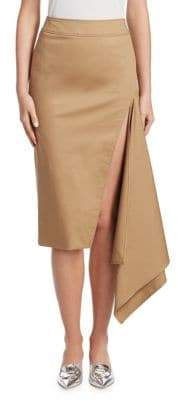 Monse Cotton Gabardine Slash Pencil Skirt