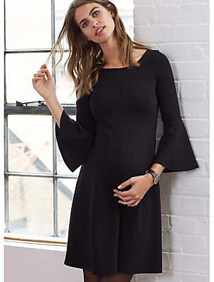 Isabella Oliver Natalia Kick Maternity Dress, Caviar Black