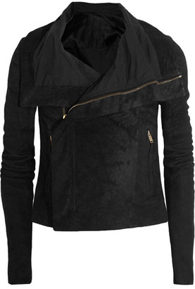 Rick Owens - Blister Brushed-leather Biker Jacket - Black $2,620 thestylecure.com
