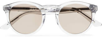 clear Kirk Originals - Watts Round-frame Acetate Sunglasses