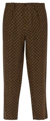 Etro Jacquard Linen Trousers - Mens - Green Multi