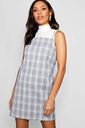 boohoo 90's Neck Checked Woven Cami Dress