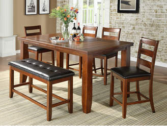 Loon Peak Bridlewood 6 Piece Counter Height Dining Set