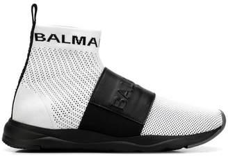 Balmain strap running sneakers
