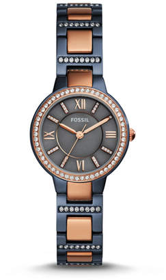 Fossil Virginia Three-Hand Two-Tone Watch