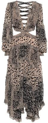 Zimmermann Allia leopard-print cut-out dress