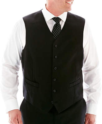 STAFFORD Stafford Super 100 Black Stripe Suit Vest-Big & Tall
