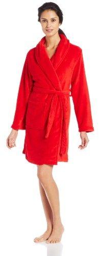Nautica Sleepwear Women's Short Plush Robe