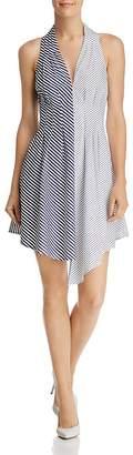 Aqua Mixed Stripe Poplin Dress - 100% Exclusive