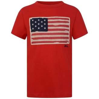 Ralph Lauren Ralph LaurenBoys Red Cotton Flag Top