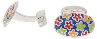 Duchamp Floral Enamel Cuff Links