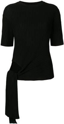 Juun.J ribbed short-sleeve sweater