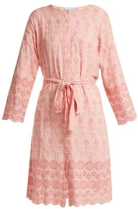Melissa Odabash Cecilia Broderie Anglaise Dress - Womens - Pink
