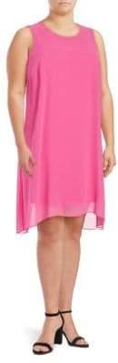 Vince Camuto Chiffon-Overlay Dress