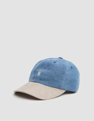 Norse Projects Denim Sports Cap in Sunwashed
