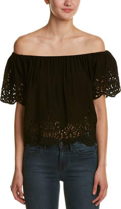 California MoonRise California Moon Rise Off-The-Shoulder Eyelet Top