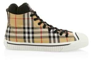 Burberry Kilbourne High-Top Check Sneakers