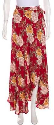 Reformation Floral Wrap Skirt