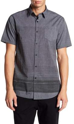 Micros Kuroyuri Short Sleeve Woven Stripe Print Shirt