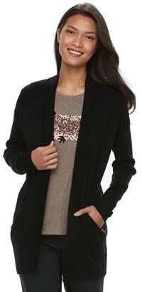 Apt. 9 Women's Zip Pocket Open-Front Cardigan