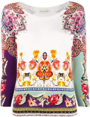 Etro floral folk print top