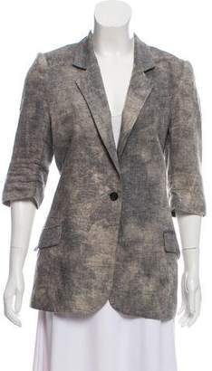 Elizabeth and James Linen Structured Blazer
