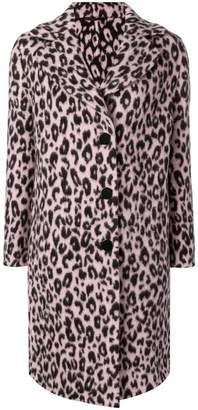Ermanno Scervino leopard pattern coat
