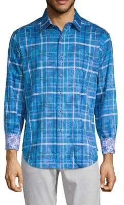 Robert Graham Calaveros Plaid Button-Down Shirt