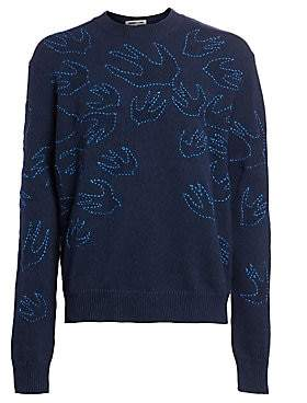 McQ Men's Swallow Swarm Stitched Cotton Sweater