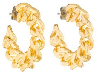 Giles & Brother Curb Chain Hoop Earrings $45 thestylecure.com