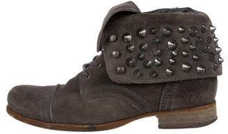 AllSaints Suede Studded Ankle Boots