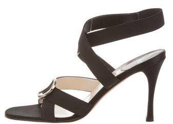 Christian Dior Embellished Ankle Strap Sandals