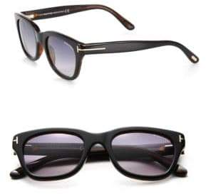 Tom Ford 53MM Rectangular Acetate Sunglasses