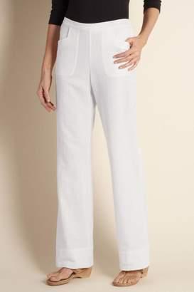 Straight Leg Gauze Pants