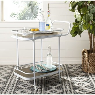 Safavieh Gaia 2 Tier Modern Classic Rectangle Bar Cart with Casters