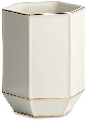 Kassatex St. Honore Tumbler - White/Gold